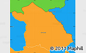 Political Simple Map of Kriva Palanka