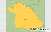 Savanna Style Simple Map of Kriva Palanka