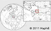 Blank Location Map of Rankovec