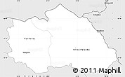 Silver Style Simple Map of Kriva Palenka