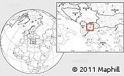 Blank Location Map of Krusevo