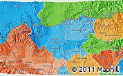 Political Shades 3D Map of Kumanovo
