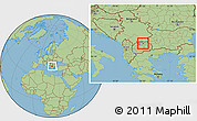 Savanna Style Location Map of Klecevce