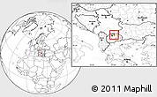Blank Location Map of Kumanovo