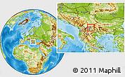 Physical Location Map of Kumanovo