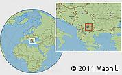 Savanna Style Location Map of Kumanovo