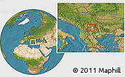 Satellite Location Map of Lipkovo, highlighted parent region