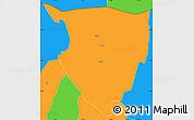 Political Simple Map of Lipkovo