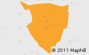 Political Simple Map of Lipkovo, single color outside