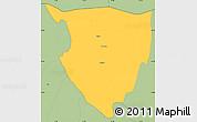 Savanna Style Simple Map of Lipkovo