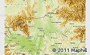 Physical Map of Kumanovo