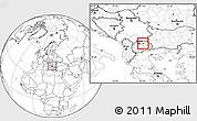 Blank Location Map of Orasac