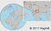 Gray Location Map of Orasac
