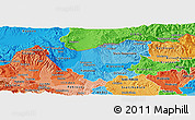 Political Shades Panoramic Map of Kumanovo