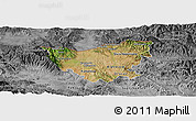 Satellite Panoramic Map of Kumanovo, desaturated