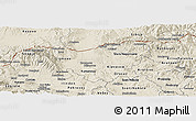Shaded Relief Panoramic Map of Kumanovo