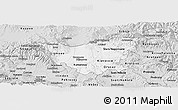 Silver Style Panoramic Map of Kumanovo