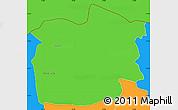 Political Simple Map of Staro Nagoricane