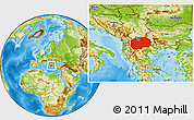 Physical Location Map of Macedonia