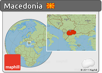 Free Savanna Style Location Map of Macedonia