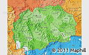 Political Shades Map of Macedonia