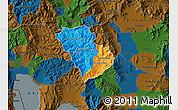 Political Map of Murgasevo, darken