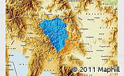 Political Map of Murgasevo, physical outside