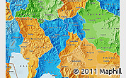 Political Map of Murgasevo, political shades outside