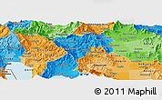 Political Panoramic Map of Murgasevo, political shades outside