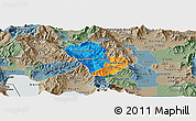 Political Panoramic Map of Murgasevo, semi-desaturated