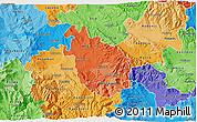 Political Shades 3D Map of Negotino