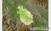 Physical Map of Negotino, darken
