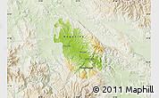 Physical Map of Negotino, lighten