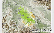 Physical Map of Negotino, semi-desaturated