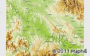 Physical Map of Negotino