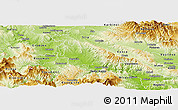 Physical Panoramic Map of Negotino