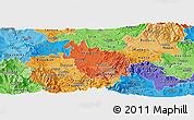 Political Shades Panoramic Map of Negotino