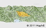 Savanna Style Panoramic Map of Belcista