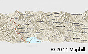 Shaded Relief Panoramic Map of Belcista