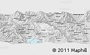 Silver Style Panoramic Map of Belcista