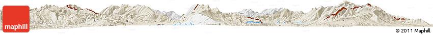 Classic Style Horizon Map of Ohrid