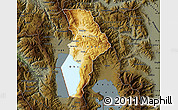 Physical Map of Ohrid, darken