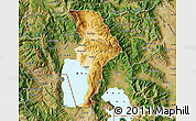 Physical Map of Ohrid, satellite outside