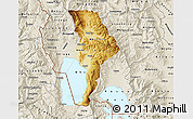 Physical Map of Ohrid, shaded relief outside