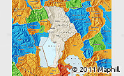 Shaded Relief Map of Ohrid, political outside