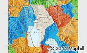 Shaded Relief Map of Ohrid, political shades outside