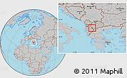Gray Location Map of Ohrid