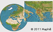 Satellite Location Map of Ohrid