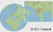 Savanna Style Location Map of Ohrid
