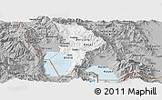 Gray Panoramic Map of Ohrid